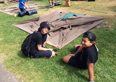 Matt-and-Logan-preparing-to-set-up-their-tent